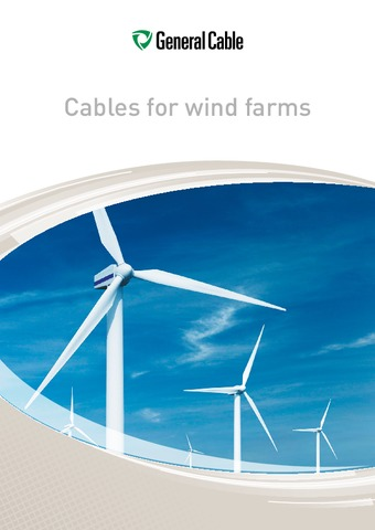 GENERAL CABLE - Catálogo Cables for wind farms