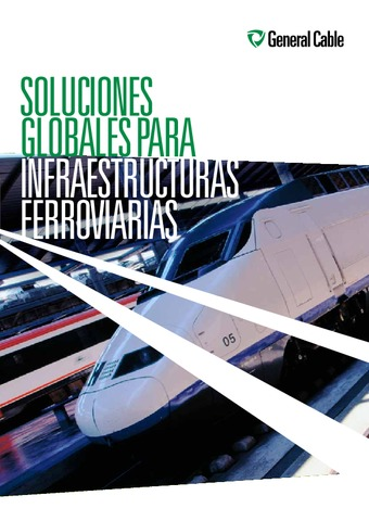 GENERAL CABLE - Catálogo Infraestructuras ferroviarias