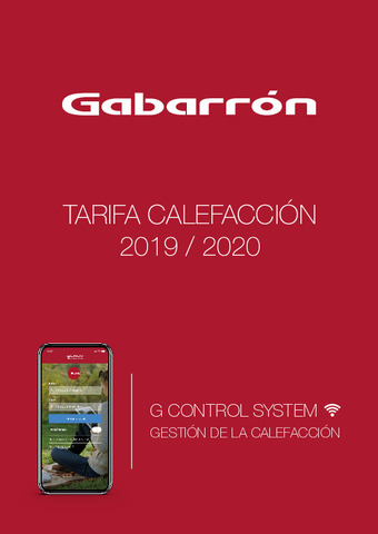 GABARRÓN - Tarifa Calefacción 2019