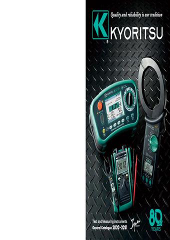 GUIJARRO HERMANOS - Medidores de tierra Kyoritsu 4105DL y 4105DL-H