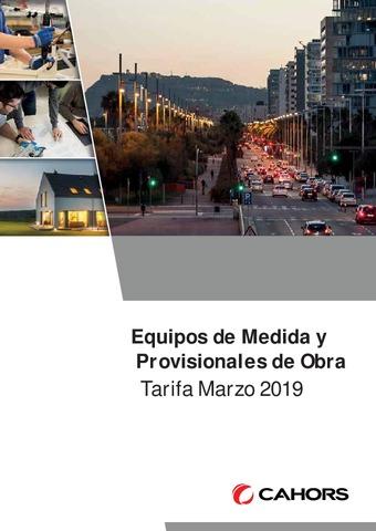 CAHORS - Tarifa Equipos Medida marzo 2019