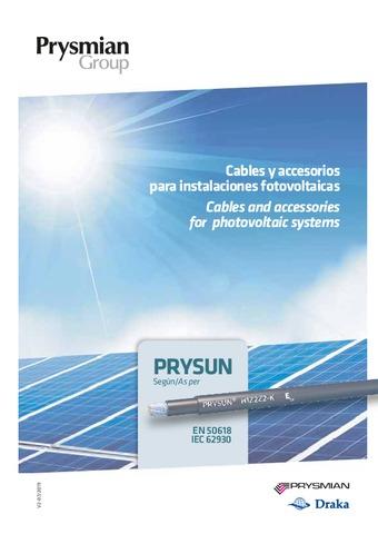 PRYSMIAN - Cables y accesorios para instalaciones fotovoltaicas 2019