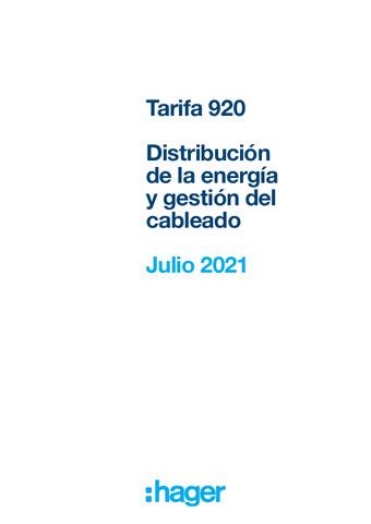 Nueva tarifa 920