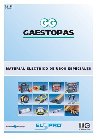 GAESTOPAS - Catálogo material para usos especiales ELSPRO