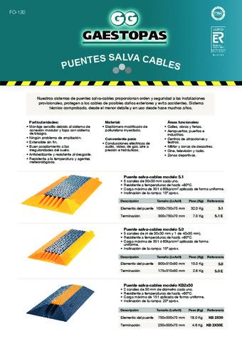 GAESTOPAS - Puentes salvacables