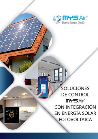 Soluciones de Control MYS AIr con integración en energía solar fotovoltaica