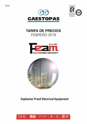 GAESTOPAS - Tarifa FEAM Febrero 2019