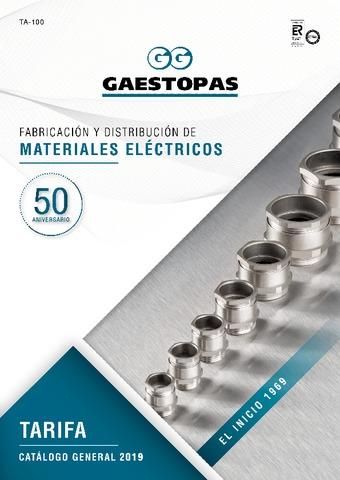 GAESTOPAS - Tarifa catálogo general 2019