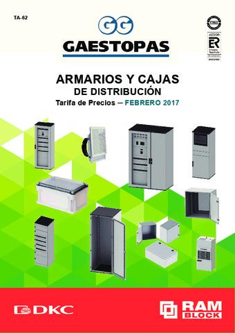 GAESTOPAS - Tarifa Armarios y Cajas distribución DKC Febrero 2019