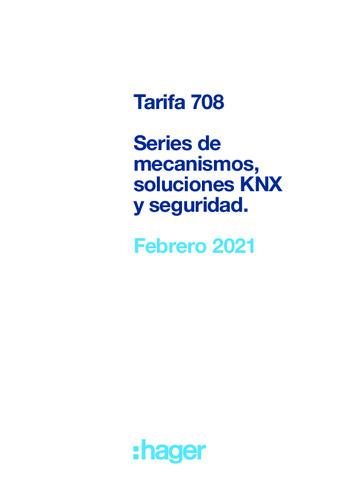 Tarifa 708 Febrero 2021