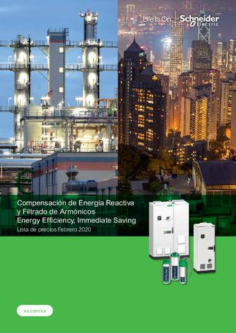 SCHNEIDER - Tarifa Compensación Energía Reactiva y Filtrado Armónicos