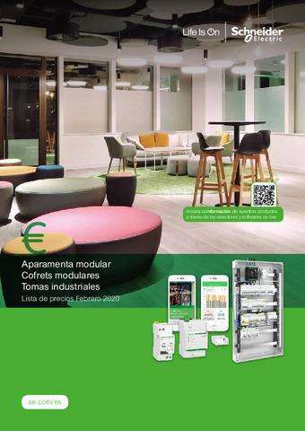 SCHNEIDER - Tarifa Aparamenta Modular Cofrets y Tomas industriales