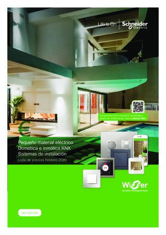 SCHNEIDER - Tarifa Pequeño material eléctrico, Domótica e Inmótica KNX