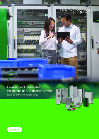 SCHNEIDER - Tarifa Envolventes Universales y sistemas para la gestión térmica