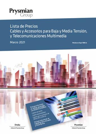 PRYSMIAN - Cables y Accesorios para Baja y Media Tensión, y Telecomunicaciones 2021Multimedia