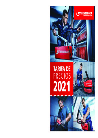 ROTHENBERGER TARIFA 2021