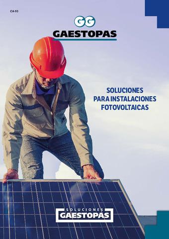 Gaestopas - Catálogo de soluciones para las instalaciones fotovoltaicas