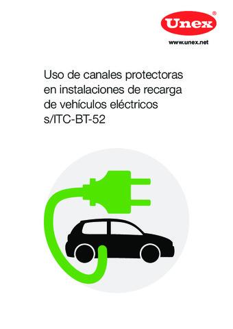 UNEX - Uso de canales protectoras en instalaciones de recarga de vehículos eléctricos s/ITC-BT-52