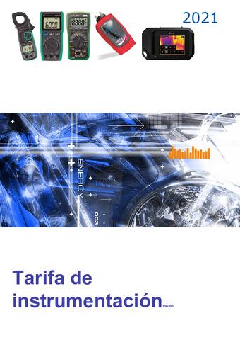 GUIJARRO HERMANOS - Tarifa Instrumentación 2021