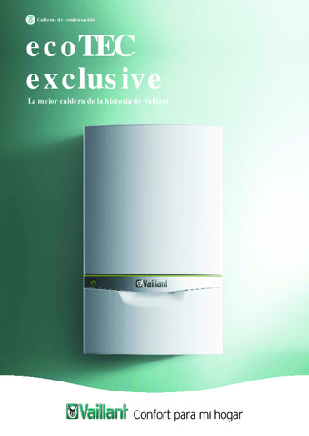 VAILLANT - Catálogo ecoTEC exclusive