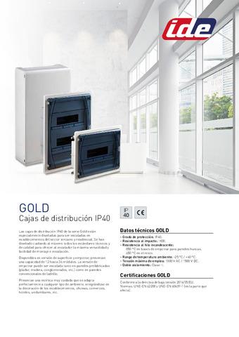IDE -  Catálogo Serie Gold 2021