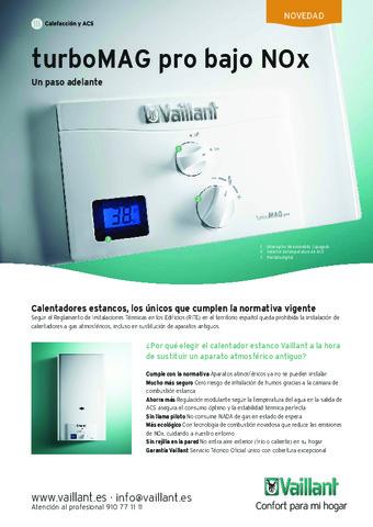 VAILLANT - Catálogo turboMAG pro bajo NOx