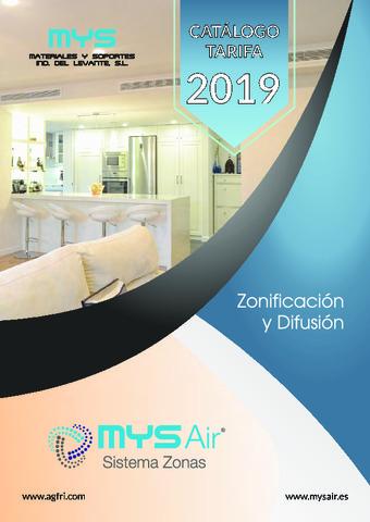 Tarifa Zonificación y Difusión 2019