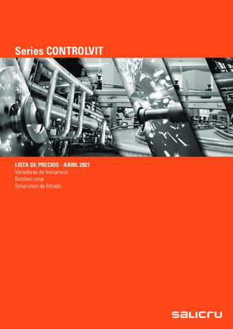 SALICRU - Tarifa Series CONTROLVIT Abril 2021