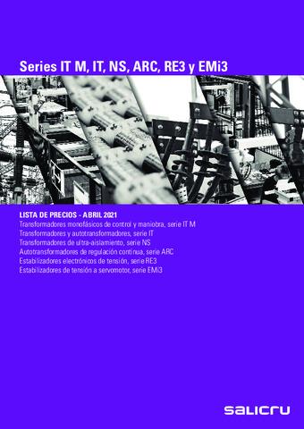 SALICRU - Series IT M, IT, NS, ARC, RE3 y EMi3