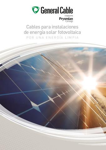 GENERAL CABLE - Cables para instalaciones de energía solar fotovoltaica