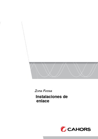 CAHORS - FECSA/ENDESA Instalaciones de enlace