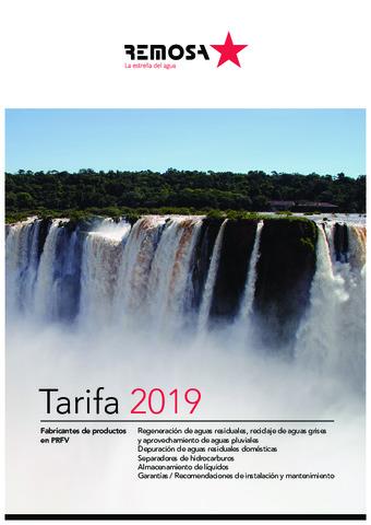 REMOSA - Tarifa 2019