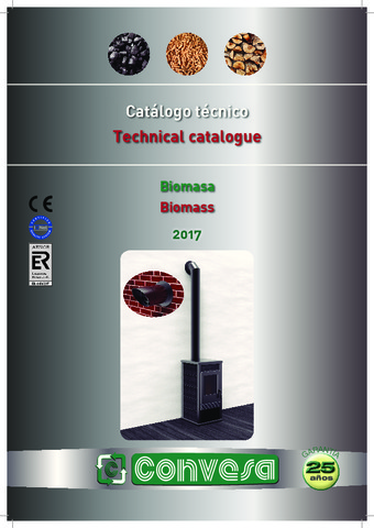 CONVESA - Catálogo Biomasa Técnico 2017