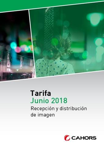 CAHORS - Tarifa TV junio 2018