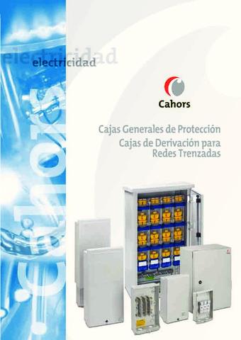 CAHORS - Catálogo Cajas Generales Protección