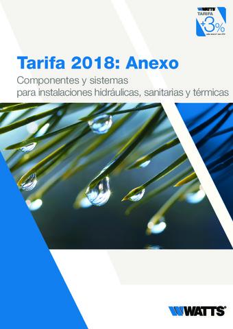 WATTS - Tarifa Anexo 2019