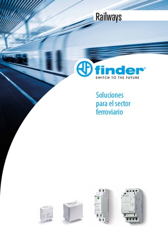 FINDER - Catálogo Gama Producto Railways