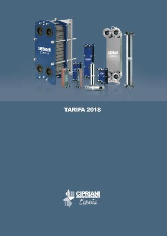 CIPRIANI - Tarifa 2018