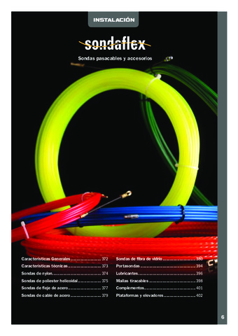 INTERFLEX - Sondas pasacables y accesorios