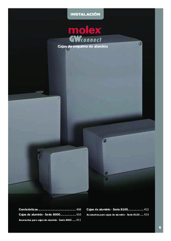 INTERFLEX - Cajas MOLEX de empalme de aluminio