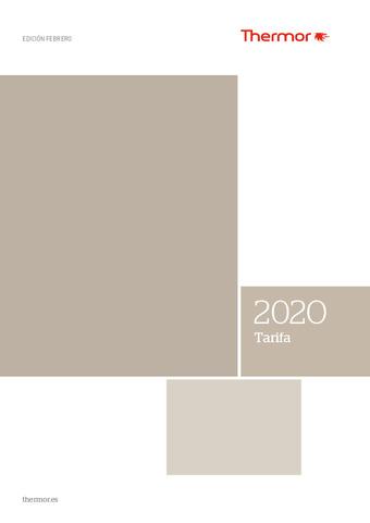 THERMOR TARIFA ENERO 2020