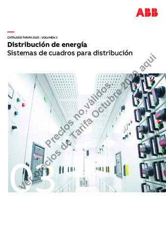 Tarifa ABB octubre 2020 (vol.3) Sistema de cuadros para distribución