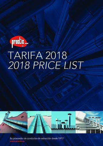 PRACTIC - Tarifa Tuberías 2018