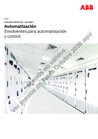 Tarifa ABB octubre 2020 (Vol.7) Envolventes para automatización y control