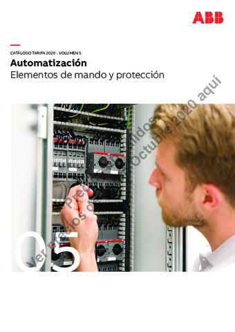 Tarifa ABB octubre 2020 (Vol.5) Elementos de mando y protección