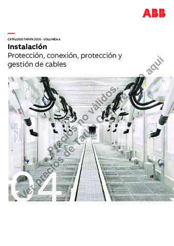 Tarifa ABB octubre 2020 (Vol.4) Protección, conexión y gestión de cables