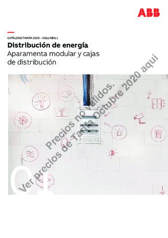 Tarifa ABB octubre 2020 (Vol.1) Aparamenta modular y cajas de distribución