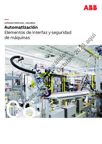 Tarifa ABB octubre 2020 (Vol.6) Elementos de interfaz y seguridad de maquinas
