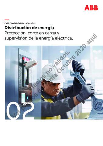 Tarifa ABB octubre 2020 (Vol.2) Proteccion,corte en carga y supervision de la energia