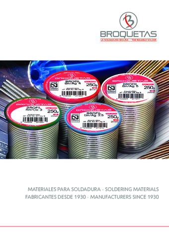 BROQUETAS - Catálogo General 2017